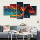 Canvas Wall Art Modular Picture Landscape Canvas Painting Modern 5 Panel Animal Eagle