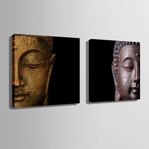 Oil Painting Buddha Head Decoration Painting Canvas Print Poster Canvas Painting Wall