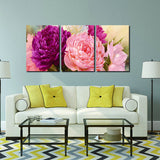 3 Panel Pictures Canvas Painting Flower Painting Wall Art Decorative Wall Art