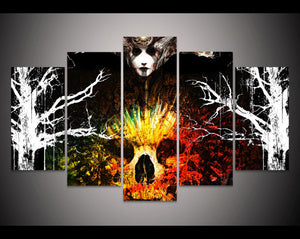 Print Skull Painting Halloween Living Room Decor Picture Print Halloween Canvas Painting Art