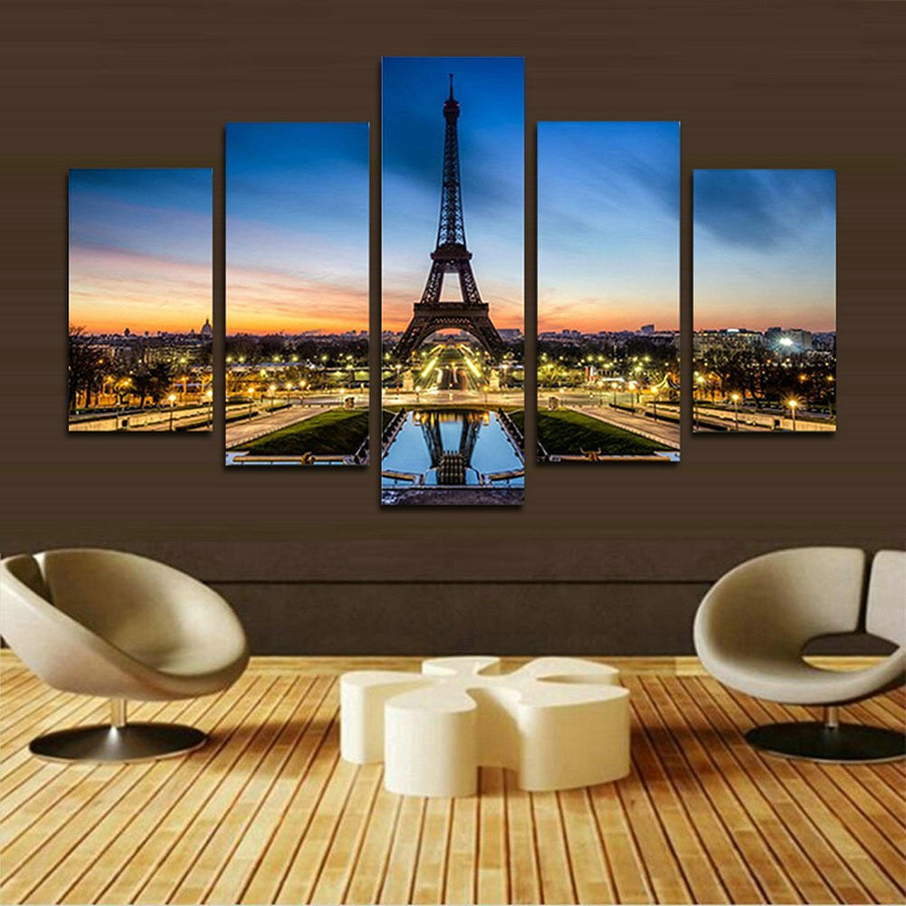 Canvas Picture Paris Eiffel Tower Painting Paintings Home Decoration Modular