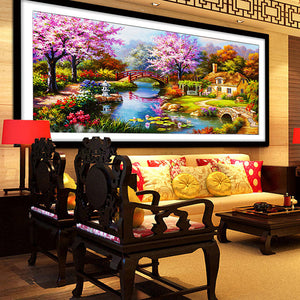 Needle Arts Crafts Diy Diamond Painting Cross Stitch Dream Home Diamond Embroidery Cabin Scenery Rubik's Cube Drill Picture