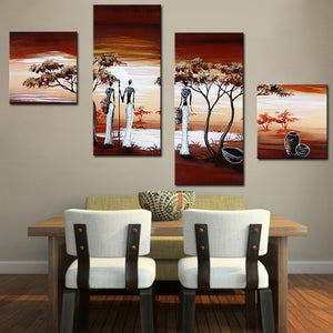 Wall Art Home Decoration African Life Pictures Modern Abstract  Oil Painting On Canvas