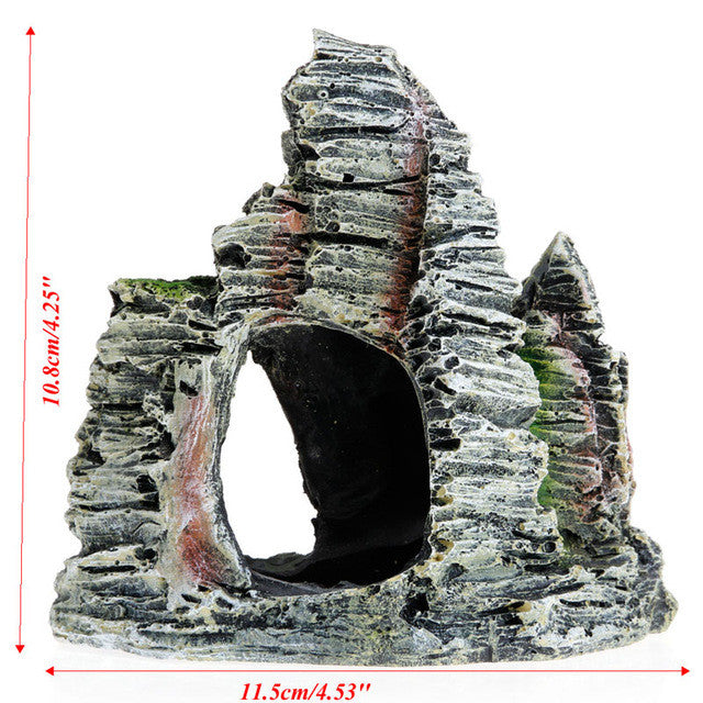 Aquarium Fish Tank Ornament Rockery Hiding Cave Landscape Decor Underwater Decor