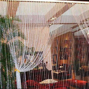 Octagonal Acrylic Crystal Beads Curtains DIY Window Door Curtain Party Wedding Passage Backdrop