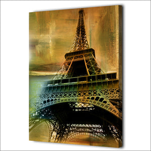 HD Printed 1 Piece Canvas Art Eiffel Tower Vintage Painting Wall Pictures Wall Art