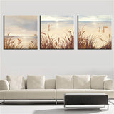 Oil Painting Canvas Painting Art of Landscape Reed Seascape Canvas Art  Home Decoration Scenery Picture