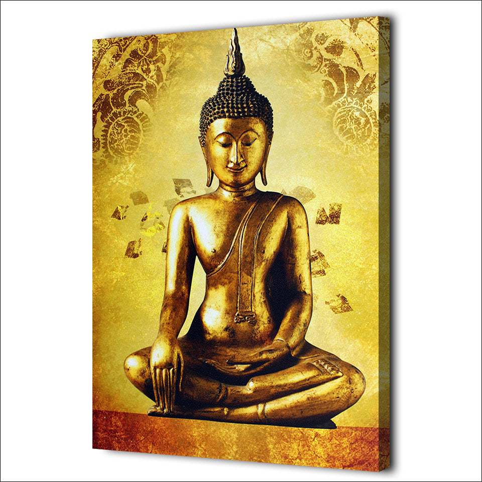 1 Piece Canvas Art Golden Buddha  Art Canvas Painting Posters And Prints Wall Picture