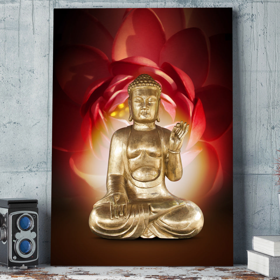 HD Printed 1 Piece Canvas Art Buddha Painting Decoration Print Poster Picture