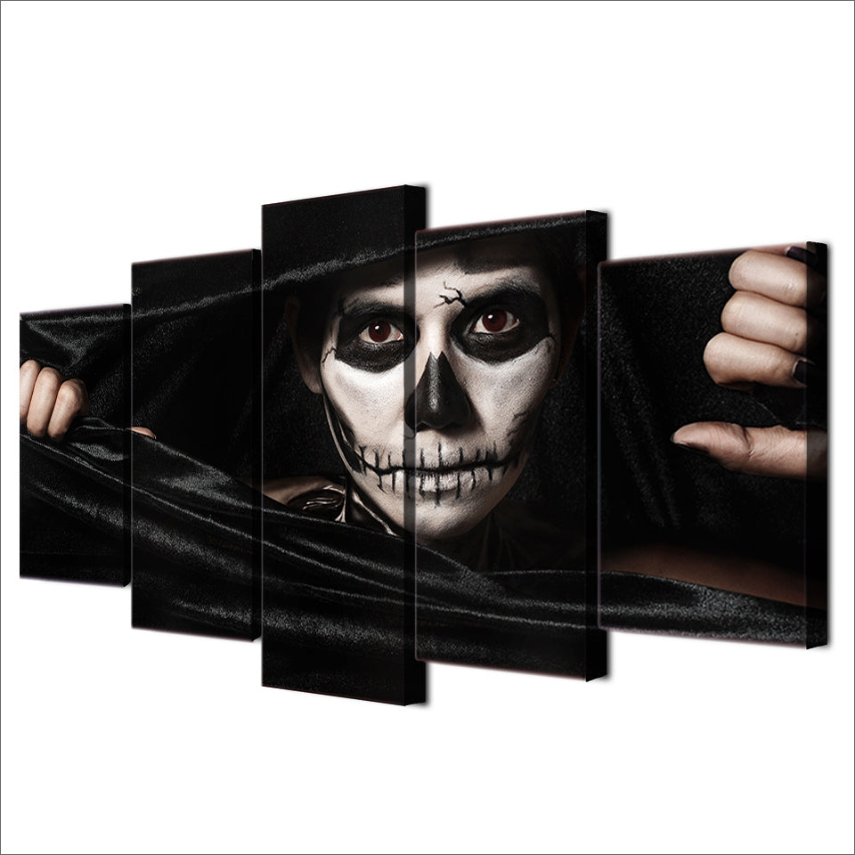 HD Printed 5 Piece Canvas Art Joker Paintings Living Room Decor Artwork Posters And Prints Panel