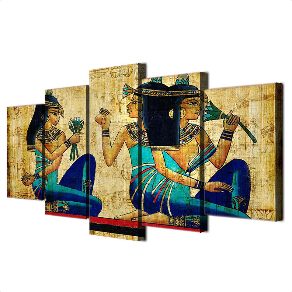 HD Printed Papyrus Art Painting On Canvas Room Decoration Print Poster Picture