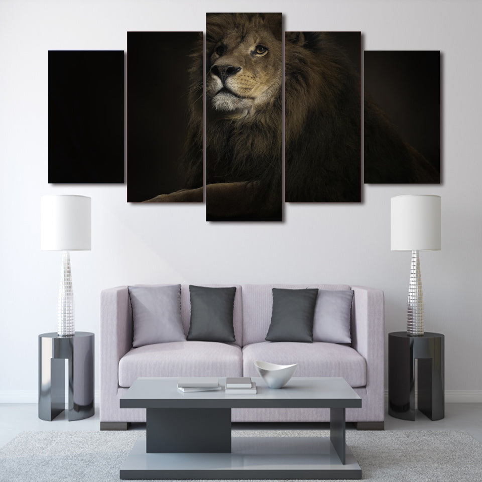 HD Printed Lion King 5 Piece Picture Painting Wall Art Room Decor Print Poster Picture Canvas