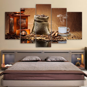 HD Printed 5 Piece Canvas Painting Classical Coffee Ceans Wall Art Canvas Prints Wall