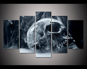 5 Sets Halloween Horror Skull Modern Home Wall Decor Canvas Picture Art HD Print Painting On Canvas
