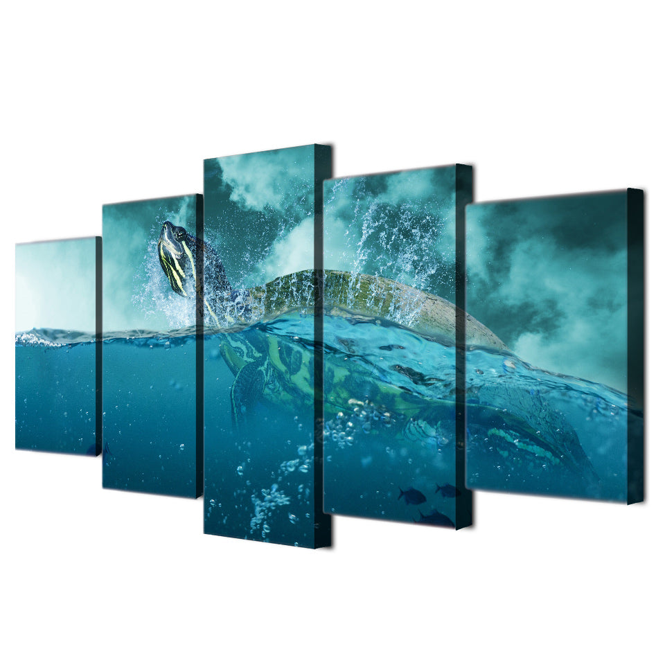 HD Printed 5 Piece Canvas Art Paintings Ocean Turtle Animal Canvas Posters And Prints