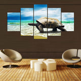 Canvas Wall Art Modular Picture 5 Panel Animal Tortoise