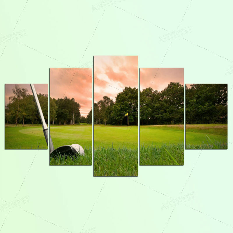 5 Piece Canvas Art HD Print Canvas Room Home Decor Wall Art HD Golf