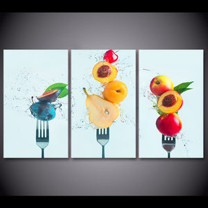 HD Printed 3 Piece Canvas Art Fruit Peaches Painting Wall Pictures Dining Hall Decoration