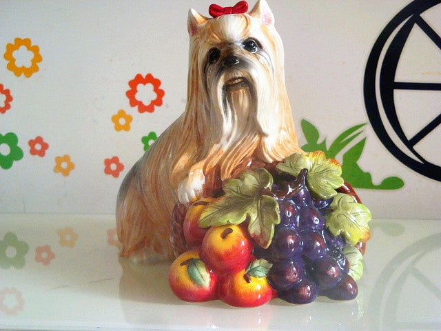Maltese Dog Statue Home Decor Crafts Room Decoration Vintage Ornament Porcelain