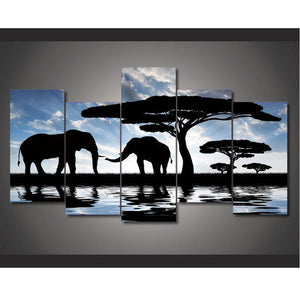 Canvas art Printings HD African Landscape Elephant Decorations