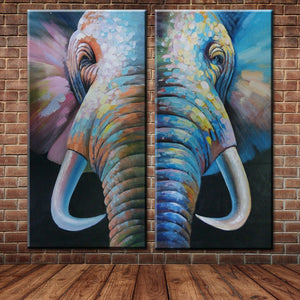 Large Wall Picture Canvas Art Animal African Elephant Oil Painting Wall Mural Picture Decoration