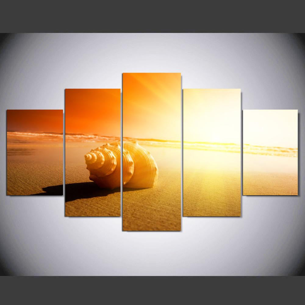 Canvas Wall Art Painting African Shining Beach And Modular Pictures ...