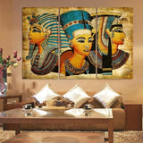 Wall Art Abstract African Ancient Egyptian image Portrait Canvas Oil Painting On Prints