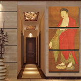 3 pcs Buddha Home Decor Buddha Canvas Print Painting Wall Art Picture Modular Picture