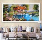 Diy 5d Diamond Painting Mosaic Landscapes Garden Painting Cross Stitch Kids Embroidery Home Decoration