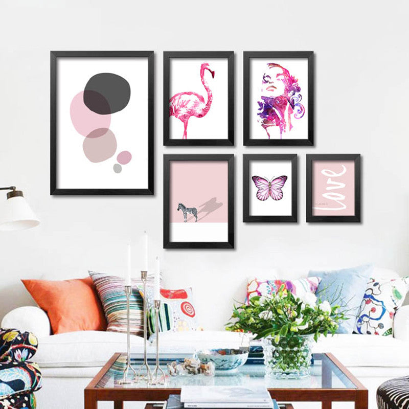 Posters And Prints Nordic Wall Pictures Canvas Art Flamingo Wall Art Canvas Painting
