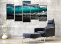 HD Printed Tsunami Waves Painting On Canvas Room Decoration Print Poster Picture