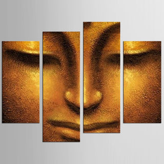 HD Printed 4 Piece Canvas Wall Art Buddha Meditation Painting Buddha Statue Wall Art Canvas Prints