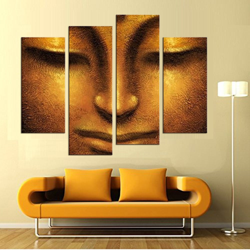 HD Printed 4 Piece Canvas Wall Art Buddha Meditation Painting Buddha ...