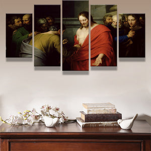 Movie Poster HD Printed On Canvas Pictures 5 Pieces Jesus And Twelve Apostles Zen Painting Room Wall Art