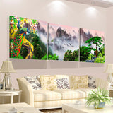 3 Pieces Modern Landscape Mountain Print Oil  Painting Picture Cuadros Wall Art Canvas Painting