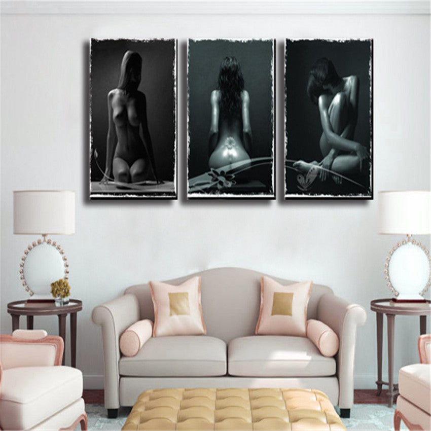 Girl Nude Canvas Printing Wall Painting Pictures For Living Room 3 Panel Canvas Art Modern Sex On Canvas