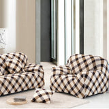 Sofa Cover Stretch Spandex Sofa Slipcovers Grid Cloth Art Stretch Printed Stretch Couch Covers