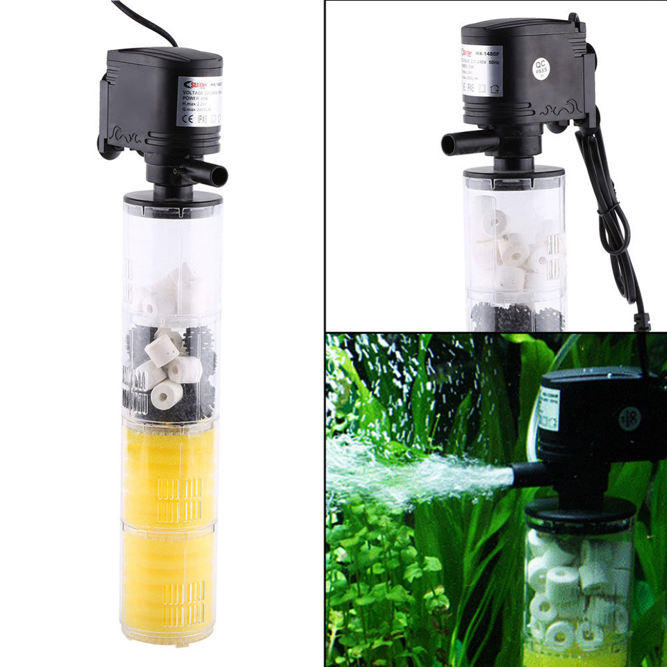 Aquarium Filter Pump Oxygen Water Pump Fish Tank Pump Aquarium Accessories 220V