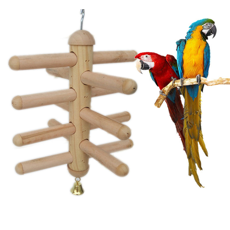 Wooden Funny Birds Parrot Ladder Toys Accessories for Birds Wood Toys Parrots