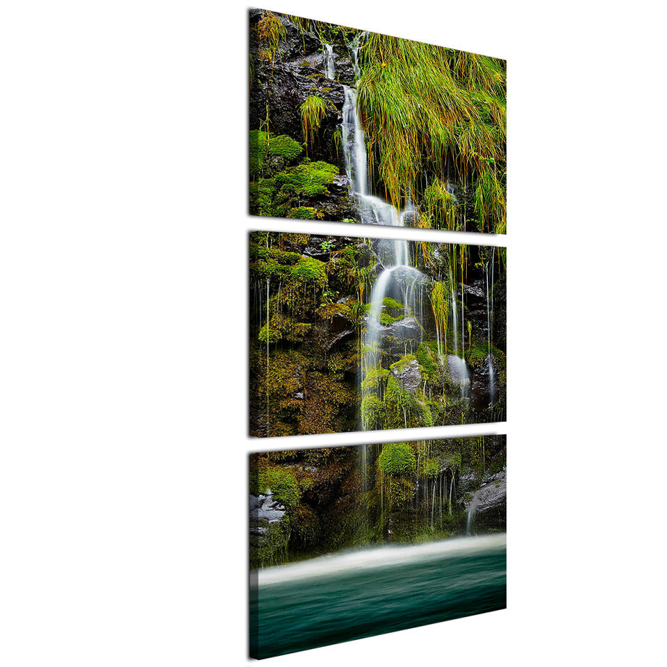 3 Piece Modular Wall Paintings HD Printed Mountain Waterfall Chinese Wall Art Decorative Canvas Pictures