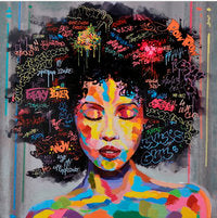 Abstract African Women Portrait Graffiti Street Wall Art Oil Canvas Painting Prints