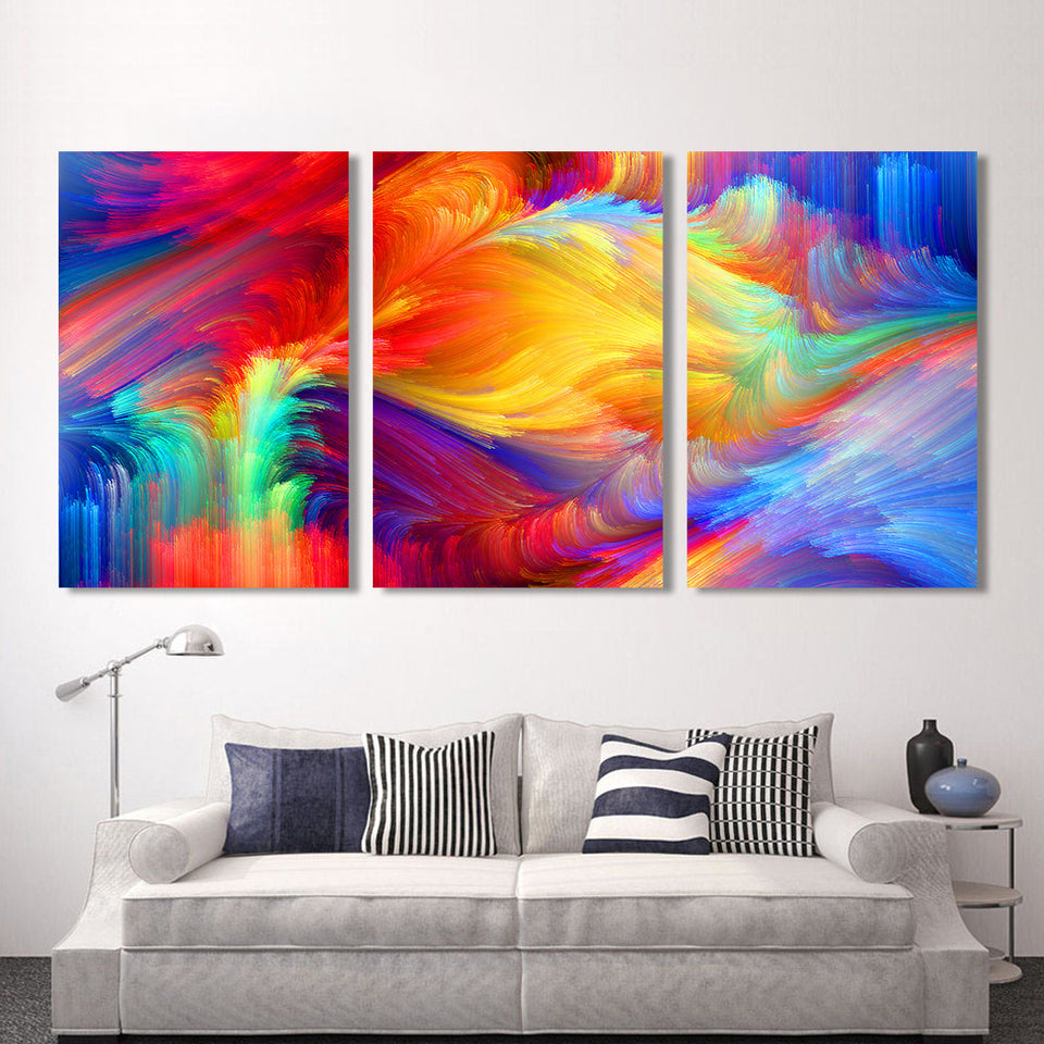 Canvas Art Picture The Pattern Of The Color Abstract Oil Painting Wall Pictures