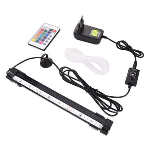 Remote Control Air Pump Fish Tank Bubble Lamp With Capacitor  AC 100-240V US