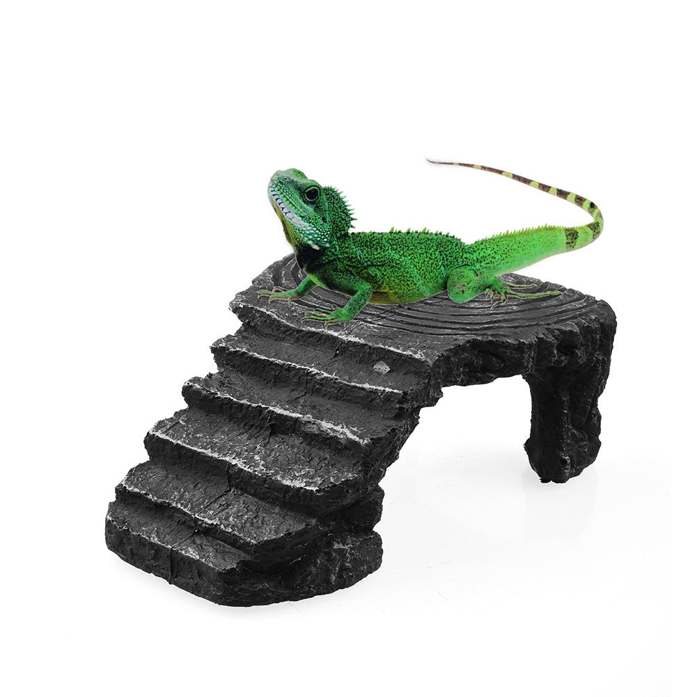 Environmentally Friendly and Non-toxic Hideouts Tortoise Basking Platform Corner Ramp Reptile Cave
