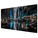 3 Panels Canvas Art New York City Night Decoration Wall Art Painting Prints Pictures