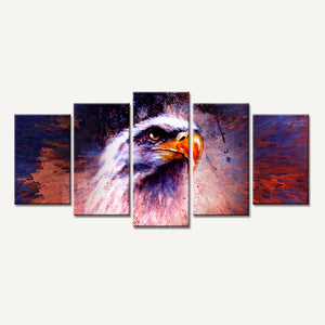 Lion Eagles Painting Wall Pictures 5 Pieces Animal Posters and Prints Canvas Art