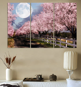 Canvas Art Painting 3 Piece Canvas Art Print Pink Tree Printed Canvas