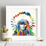 Headdress Native American Indian Canvas Art Print Painting Poster Wall Pictures Decorative