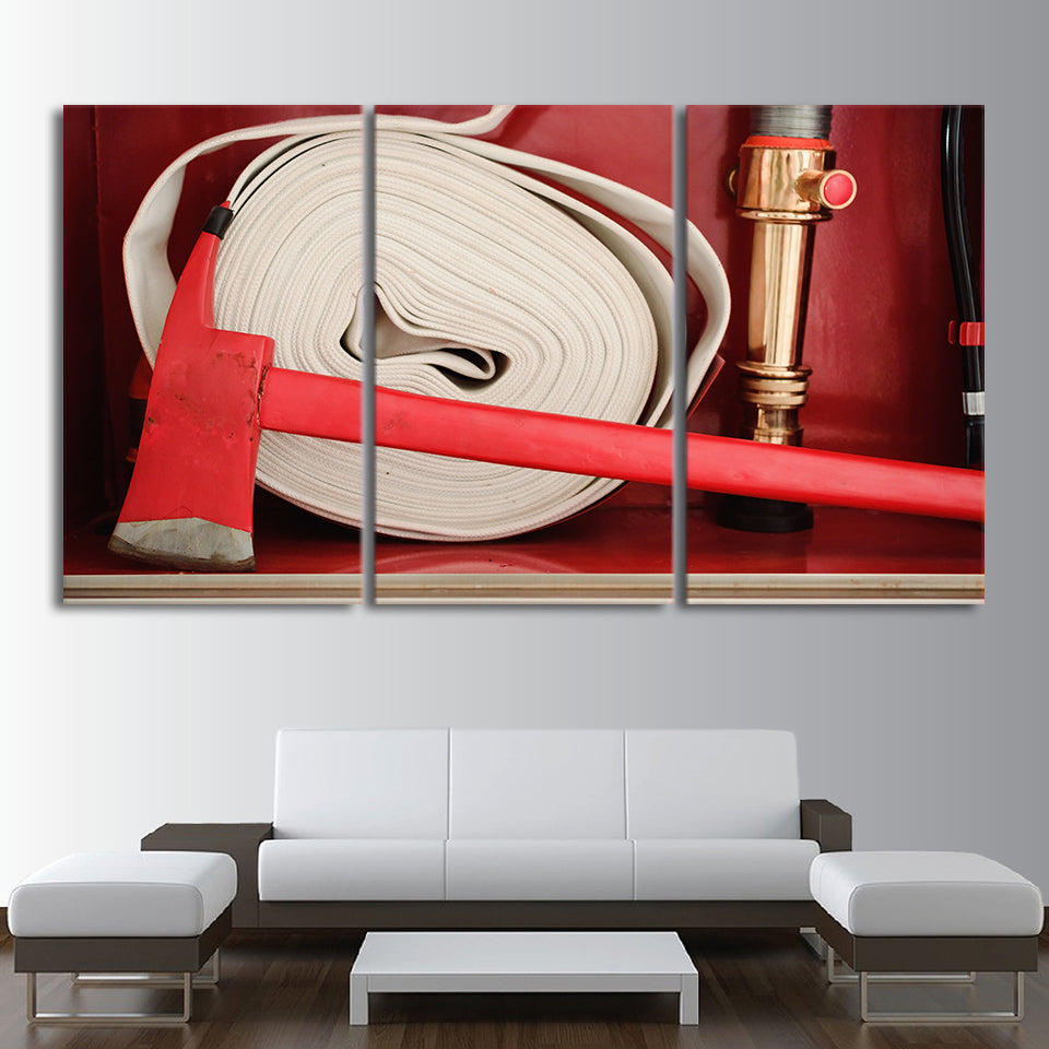 3 Piece HD printed Canvas Art Fire Hose Painting Framed Poster Prints Wall Wall Pictures