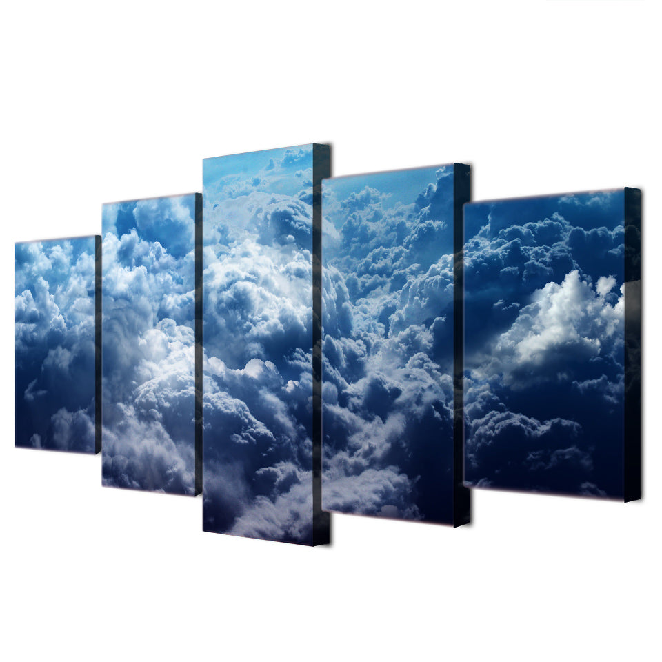 5 Piece Canvas Art Paintings Cloud Blue Sky HD Home Decor Wall Decorations Posters